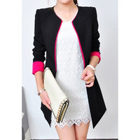Long Sleeves Blazer in Black