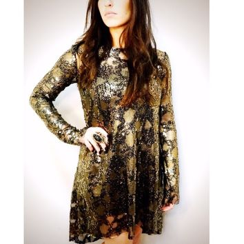 Junim LA // Liza Brass Mini Dress