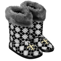 New Orleans Saints Women's Argyle Fur Boot