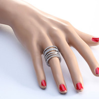 Josie Sterling Silver Knuckle Chain Ring