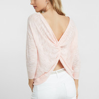 Back Twist Bateau Neck Sweater