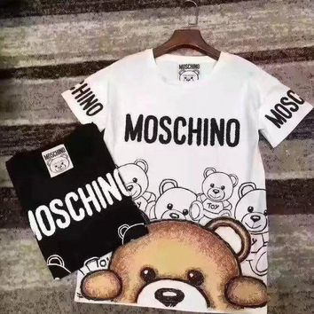 moschino bear fashion women t shirt-4