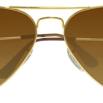 Ray Ban Aviator RB3025 001/57 gold frame brown 58mm polarized lens sunglasses
