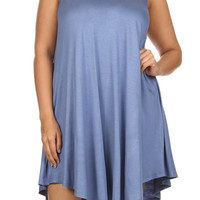 Plus Size Sleeveless Tunic