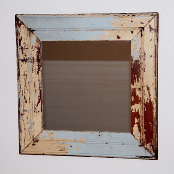 Reclaimed Wood Mirror New Orleans Beadboard - Custom, Made to Order by RestorationHarbor
