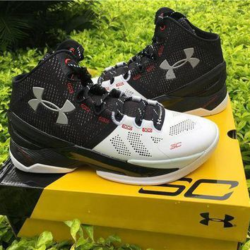Under Armour Curry 2 Black White 1259007-652 Basketball Shoes - Beauty Ticks
