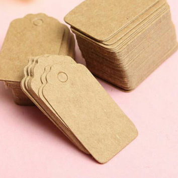25 Brown Card Punched Out whole Name Tags Party Favors Gift Bags Wedding Card Special Occassion Gift Name Card Tag Set