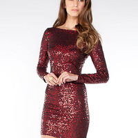 Long Sleeved Sequin Dress | Sexy Clothes Womens Sexy Dresses Sexy Clubwear Sexy Swimwear | Flirt Catalog