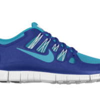 Nike Free 5.0 Shield iD Custom Women's Running Shoes - Blue