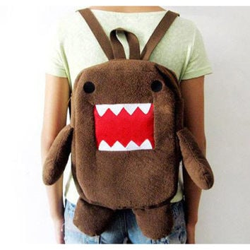 TEXU 2016 special offer Children school bags cute stuffed animal backpacks cartoon DOMO KUN Plush for kid bags