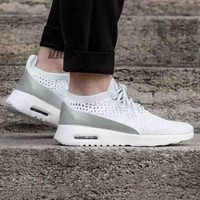 Nike Air Max Thea Ultra Flyknit Trending Comfortable breathable Running shoes Sneakers  B-CSXY White