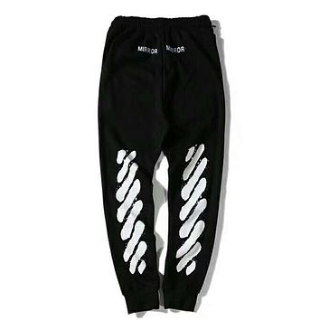 OFF-WHITE  black Jogger  Sweatpants Sweat pants Pyrex Version trousers I-YQ-ZLHJ