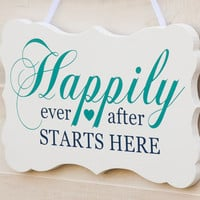 Wedding bracket shape wood sign wall art. Multiple Colors. Happily Ever After, Fairy Tale, Flower Girl, Ring Bearer, Rustic Country Chic