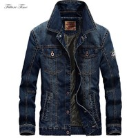 Trendy Men Jacket Denim Jeans Jackets and Coats for Autumn Casual Slim Brand Clothing Cowboy Jeans Jacket 2018 Mens Streetwear C1618 AT_94_13