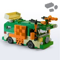 Custom LEGO Turtle Party Wagon Parts+Instructions