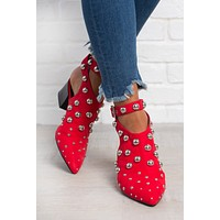 Pearl Of Great Prize Booties (Red)