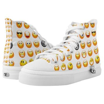 emojis sneakers shoes printed shoes