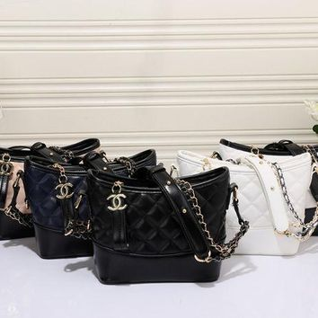CUPUPL CHANEL Women Shopping Leather Chain Satchel Tote Shoulder Bag Handbag