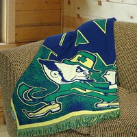 "Notre Dame Fighting Irish 48""x60"" Focus Series Acrylic Triple Woven Blanket Throw"