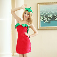 Hot Deal Sexy Cute On Sale Strawberry Fruits Games Uniform Set Cosplay Costume Exotic Lingerie [6595819587]