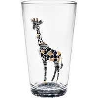 Giraffe Print Pint Glasses - Set of 4