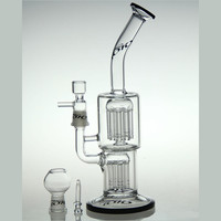 "10.5"" Toro Glass 14-Arm Tree Water Pipe"