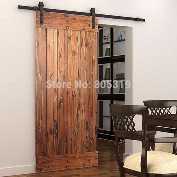 Sliding Barn Door Hardware Track 1.5M/1.83M/2M/2.44M Track For Selection