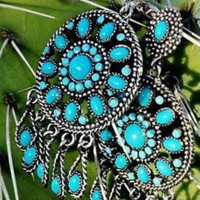 Warrior Queen Turquoise Earrings by Crazy Train