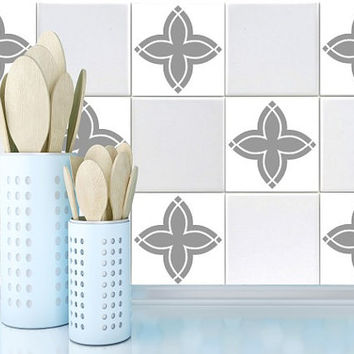 Tile decals Stickers - Tile Decals - Tile decals for Kitchen or Bathroom - PACK OF 20 - Mexico, Morocco, Portugal, Spain, Mosaic #14
