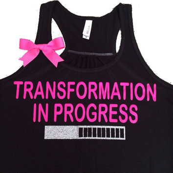 Transformation in Progress Tank - Ruffles with Love - Women's Fitness