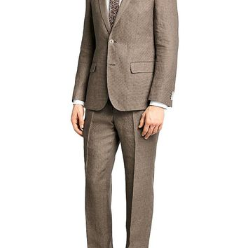 'Hedson/Gander' | Slim Fit, Linen Suit by BOSS