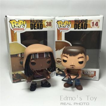 FUNKO POP Television The Walking Dead Michonne Daryl Dixon Hot  PVC Action Figure Collection Model Toy Doll 10CM Gift