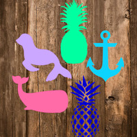 "FREE SHIPPING! - 3"" Pineapple, Anchor, Seal, Whale 