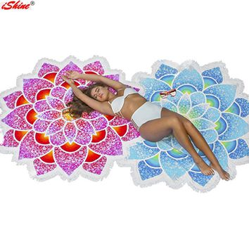 New Pareo Indian Mandalas Tapestry Totem Lotus Wall Hanging Sandy Beach Towels Yoga Mat Blanket Camping Mattress Bikini Cover Up