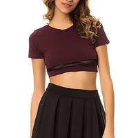 The Blocked Out Top in Burgundy