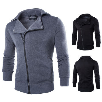 Classics Zippers Men Slim Hoodies Men's Fashion Jacket [6528653891]