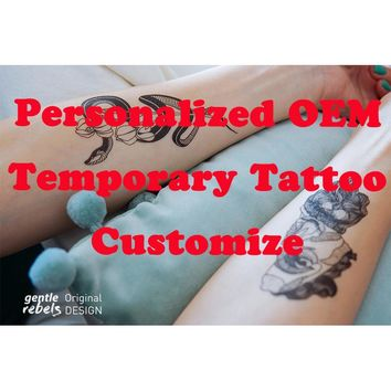 Personalized OEM Temporary Tattoo Customize Tattoo Adorable Custom Make Tattoo For Cosplay or Company Logo Party Game