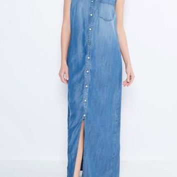 Mari Sleeveless Tencel Maxi Dress