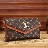 Louis Vuitton Trending Women Fashion Leather Satchel Shoulder Bag Crossbody Brown G