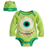 Mike Wazowski Disney Cuddly Bodysuit Set for Baby - Personalizable | Disney Store