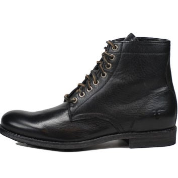 Frye Tyler Lace-Up Mens Boots Black