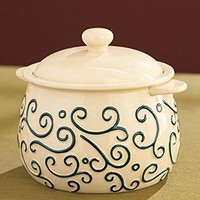 Complement Your Homemade Soups and Stews with a Soup Tureen & 4 Bowl Set. Cream Stoneware.