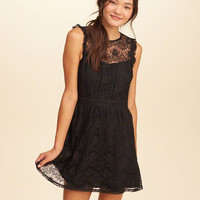 Girls Ruffle Lace Dress | Girls Dresses & Rompers | HollisterCo.com