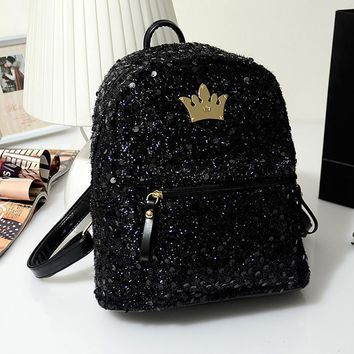PREPPY SEQUINED BACKPACK (2 Colors)