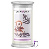 Get Well Soon Jewelry Greeting Candles
