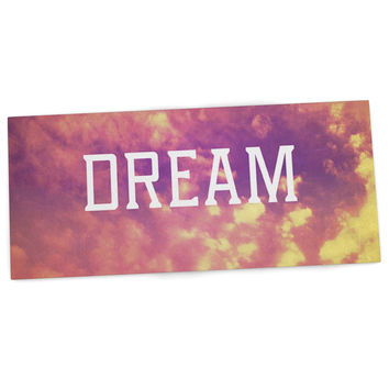"Rachel Burbee ""Dream"" Pink Orange Desk Mat"