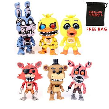Horror Doll Freddy Toys Action Figure Kawaii Zombie Sucio Bear Fox  at Freddy Cinco De Mayo Game Figurine Nendoroid