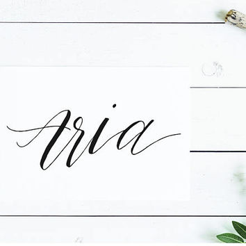 Aria | Nursery Art | Baby Name