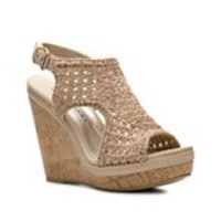 Audrey Brooke Walta Wedge Sandal