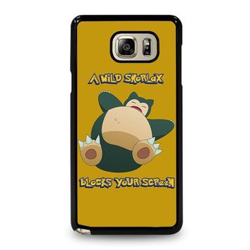 snorlax pokemon samsung galaxy note 5 case cover  number 1